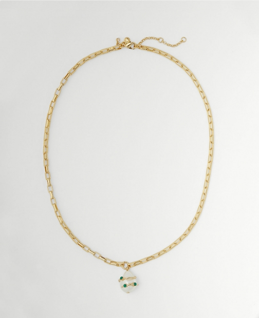 Ann Taylor Pearlized Wrapped Pendant Necklace