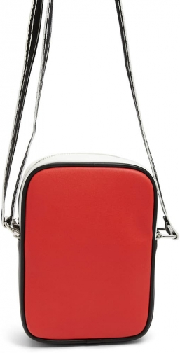 Forever21 Forever 21 Faux Leather Colorblock Crossbody , Red/multi Crossbody Bag
