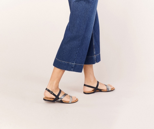 Oasis Leather Snake Sandals