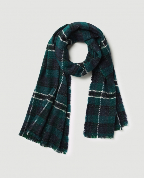 Ann Taylor Factory Shimmer Plaid Scarf