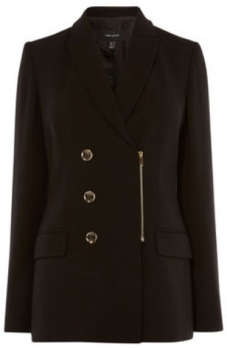 Karen Millen Zip Tailored Jacket