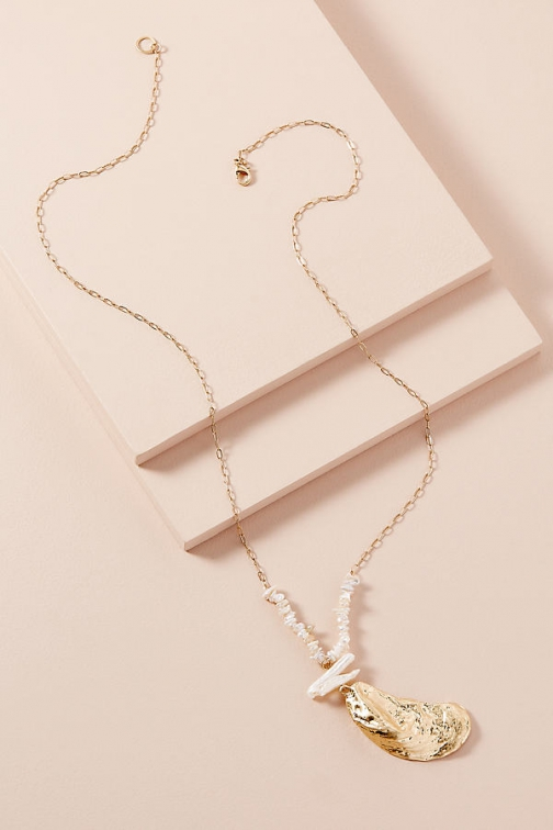 Anthropologie Amerie Shell-Charm Necklace