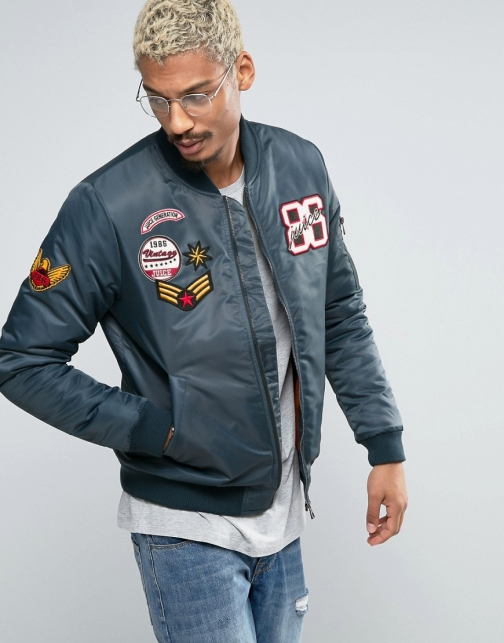 Juice With Patches Bomber Jacket