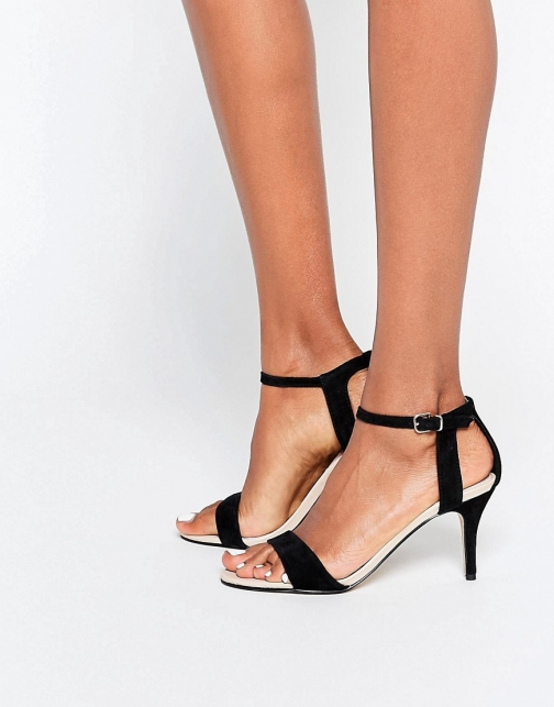 Carvela Kollude Black Kitten Heeled Sandal