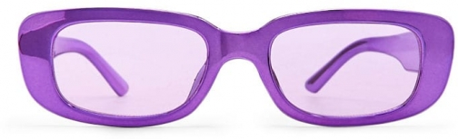 Forever21 Forever 21 Premium Tinted Metallic , Purple/purple Sunglasses