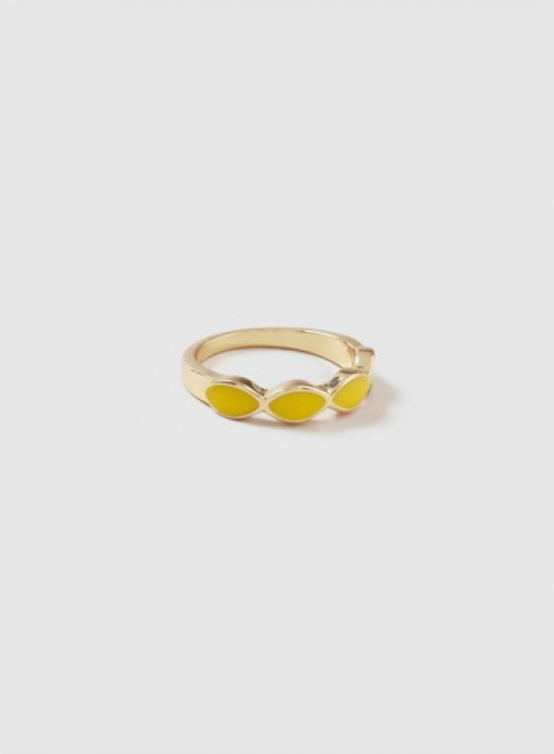 Dorothy Perkins Gold Look Oval Band Ring