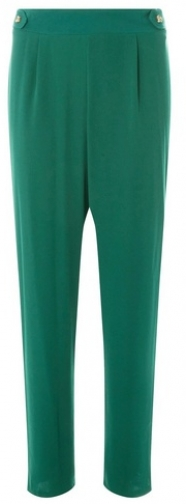 Dorothy Perkins Womens Green Horn Button Joggers- Green, Green Athletic Pant
