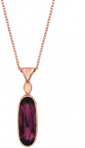 Aurora Rose Gold Plated Crystal Drop Pendant