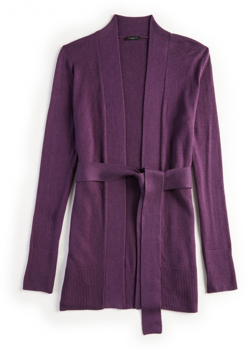 Ann Taylor Belted Open Cardigan