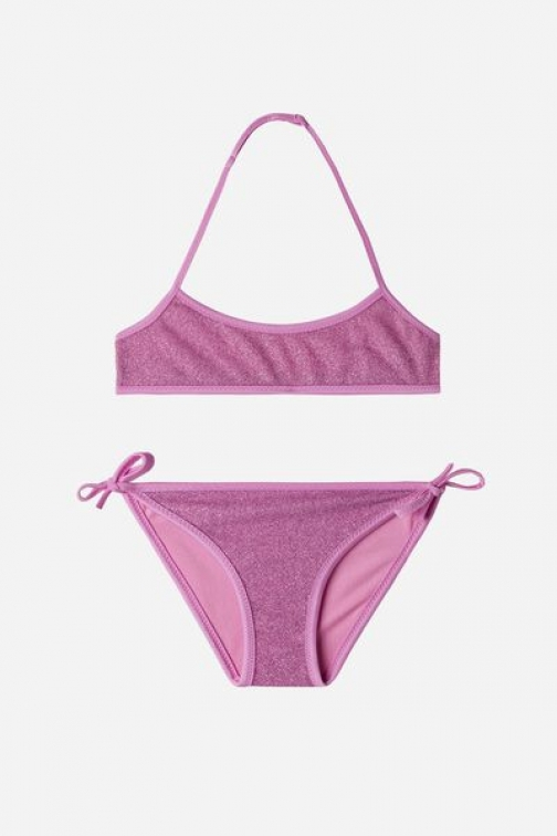 Calzedonia Two Piece Girls' Las Vegas Girl Violet Size 10 Swimsuit