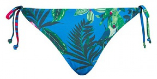 Dorothy Perkins Turquoise Parrot Print Side Bikini Bottoms Tie
