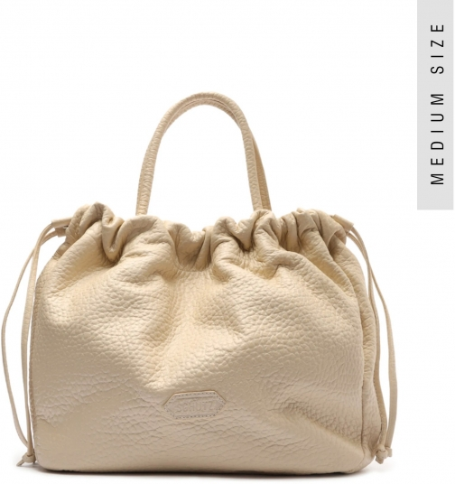 Schutz Shoes Kika Embossed Leather - O/S Eggshell Embossed Leather Tote