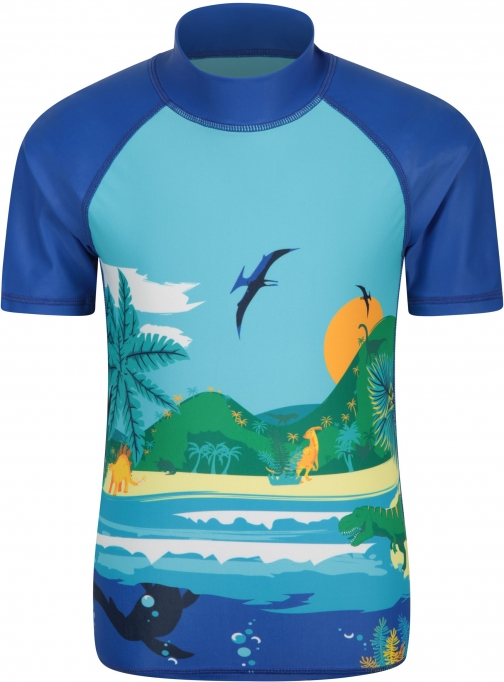 Mountain Warehouse Dino Scenic Kids Rash Vest - Blue Top