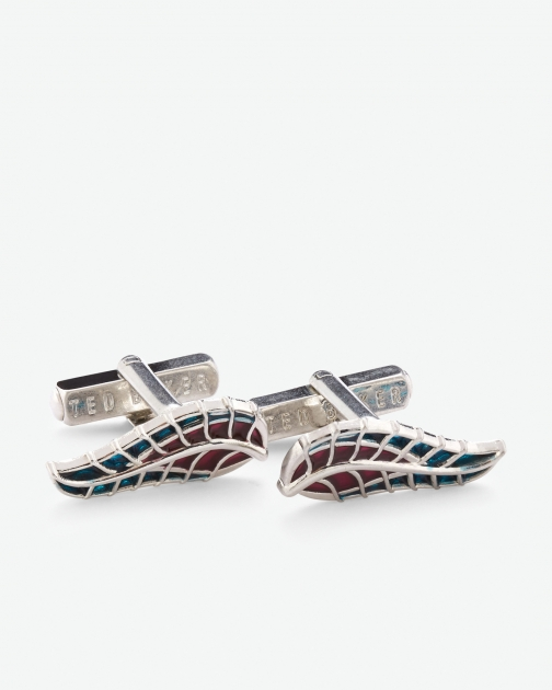 Ted Baker Feather Silver Colour Cufflink