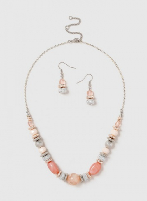 Dorothy Perkins Pink Earring And Necklace Set Jewellery