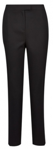 Dorothy Perkins Black Regular Textured Tapered Leg Trousers Trouser