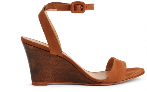 Schutz Shoes Andrelisse - 6.5 Wood Suede & Wood Wedge Sandal