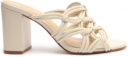 Schutz Shoes Soffy Leather Sandal - 8 Eggshell Leather Sandals
