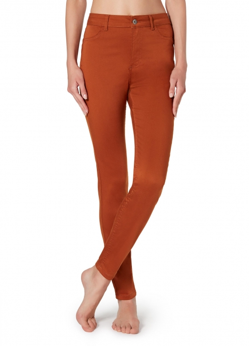 Calzedonia - Push-up And Soft Touch , M SHORT, Orange, Women Jeans