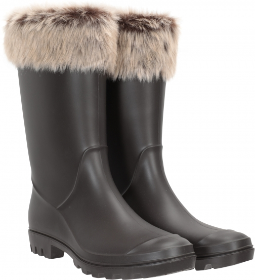Mountain Warehouse Womens Faux-Fur Trim - Beige Welly