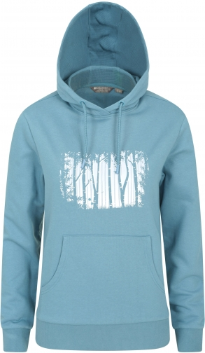 Mountain Warehouse Forest Tree Embroidered Womens - Blue Hoodie
