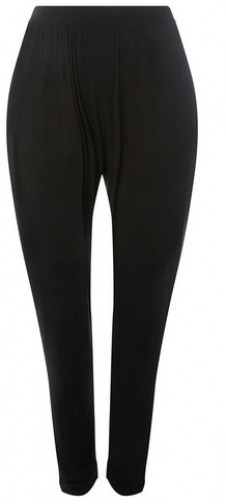 Dorothy Perkins Womens **DP Curve Black Jersey Joggers- Black, Black Athletic Pant
