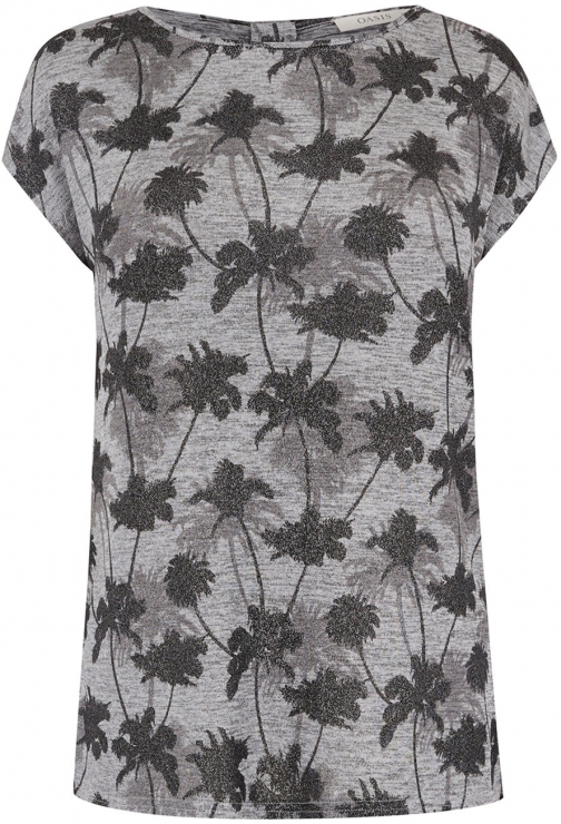 Oasis PALM SHADOW FOIL TEE T-Shirt