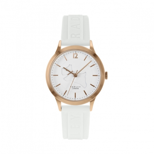 Radley It! Silicone With White Embossed Strap Watch
