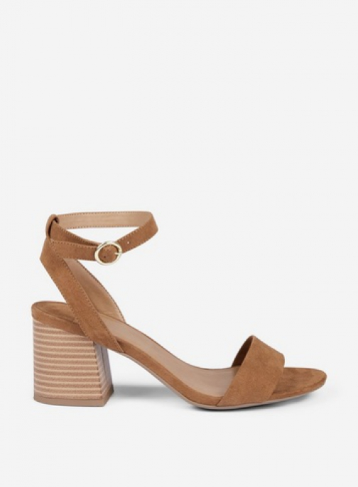 Dorothy Perkins Wide Fit Tan 'Shady' Block Heeled Sandals