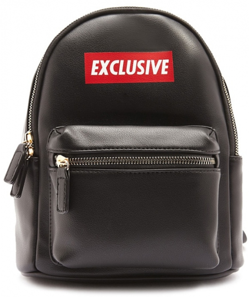 Forever21 Forever 21 Exclusive Graphic , Black Backpack