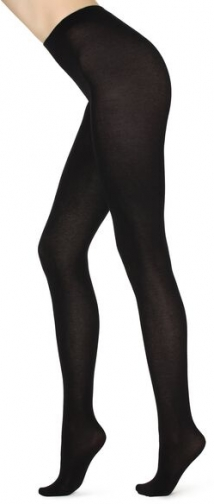 Calzedonia Super Opaque With Cashmere Woman Black Size 4 Tight