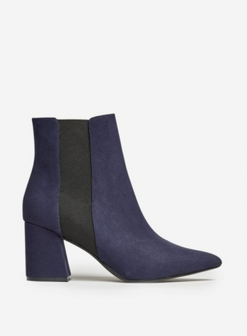Dorothy Perkins Wide Fit Navy 'Amica' Chelsea Boot