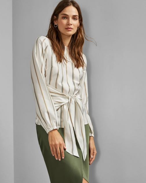Ted Baker Front Wrap Detail Top T-Shirt