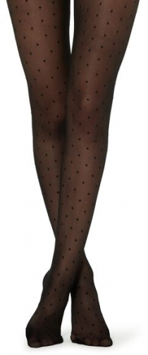 Calzedonia Invisible Dotted Woman Black Size 4 Tight