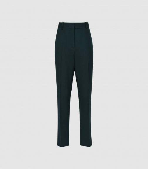 Reiss Sadie - Slim Fit Green, Womens, Size 6 Tailored Trouser