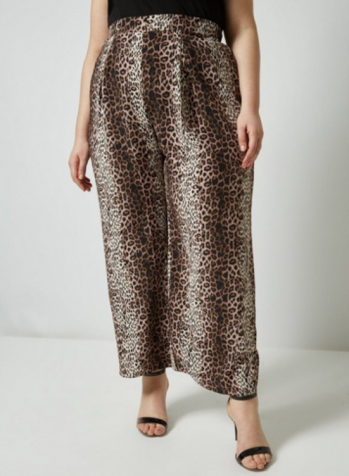 Dorothy Perkins Dp Curve Animal Print Palazzo Trousers Trouser