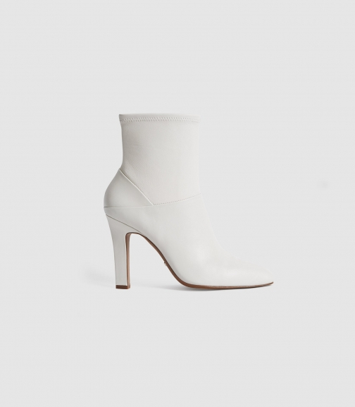Reiss Carrie - Leather White, Womens, Size 3 Ankle Boot