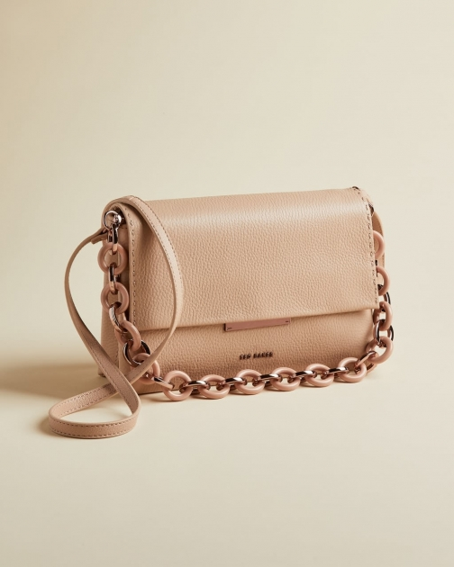 Ted Baker Leather Resin Chain Shoulder Bag