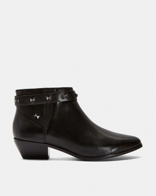 Ted Baker Studded Bow Ankle Boot