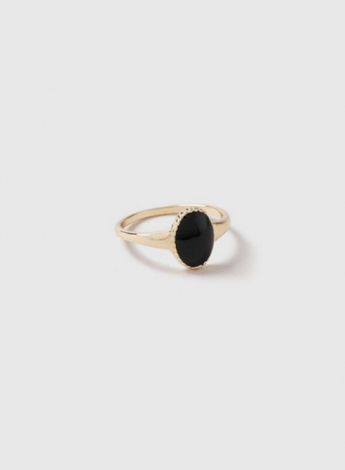 Dorothy Perkins Black Oval Signet Ring
