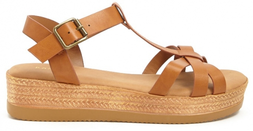 Forever21 Forever 21 Strappy Wedges Tan Espadrille