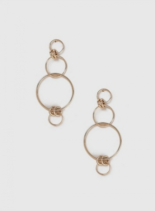 Dorothy Perkins Womens Gold Multi Ring Drop - Gold, Gold Earring
