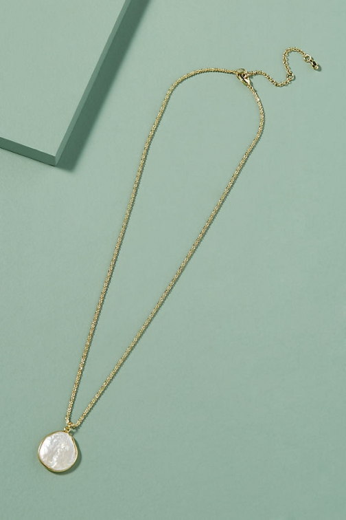 Anthropologie Mairon Pearl-Pendant Necklace