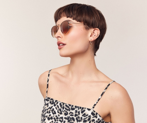 Oasis Holly Metal Round Sunglasses