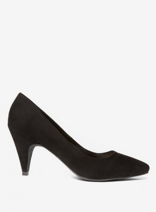 Dorothy Perkins Womens Black 'Diana' Almond Toe Court - Black, Black Shoes