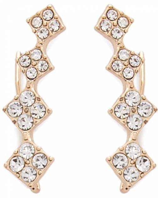 Forever21 Forever 21 Rhinestone Ear , Gold/clear Pin
