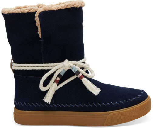 Toms Navy Suede Women's Vista - Size UK7.5 / US9.5 Boot