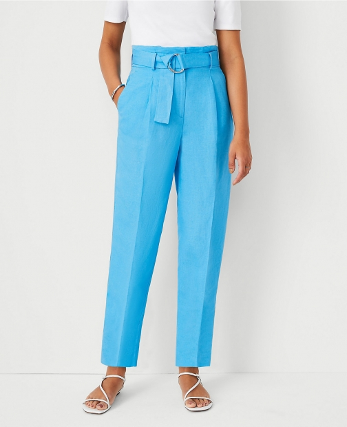 Ann Taylor The Belted Paperbag Ankle Pant Trouser