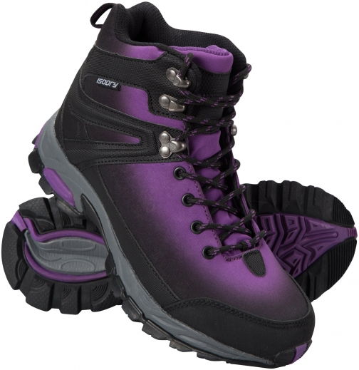 Mountain Warehouse Intrepid Waterproof Softshell Womens - Purple Boot