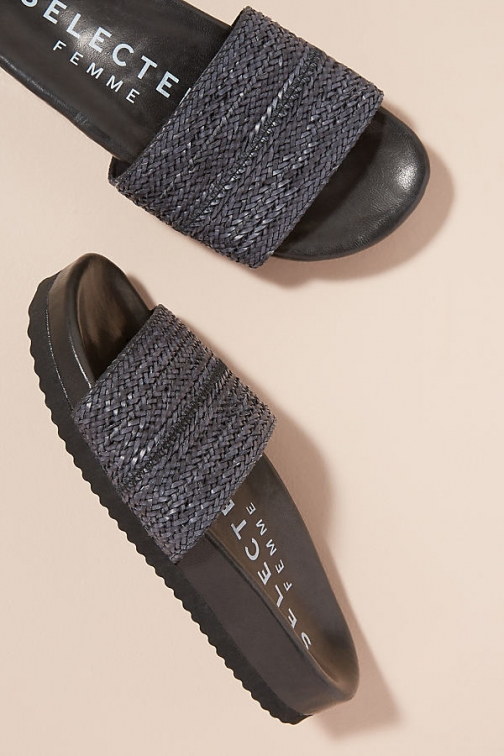 Selected Femme Woven-Leather Sandals